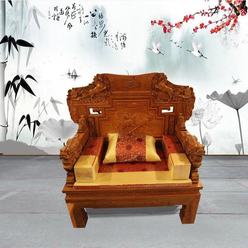 集一美红木宝马沙发红木沙发十件套