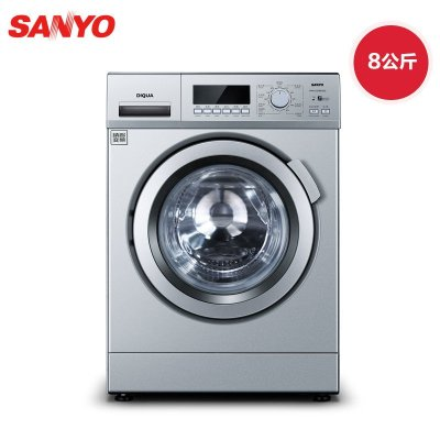SANYO 三洋 WF810326BS0S 8公斤 变频 滚筒洗衣机(浅咖亚银)