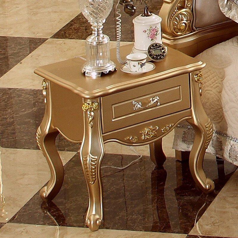 床头柜 欧式法式香槟金土豪金单抽屉床头柜