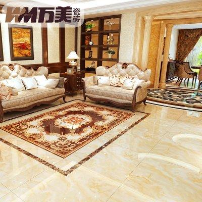 微晶石客厅地砖欧式地板砖仿大理石纹电视背景墙800x