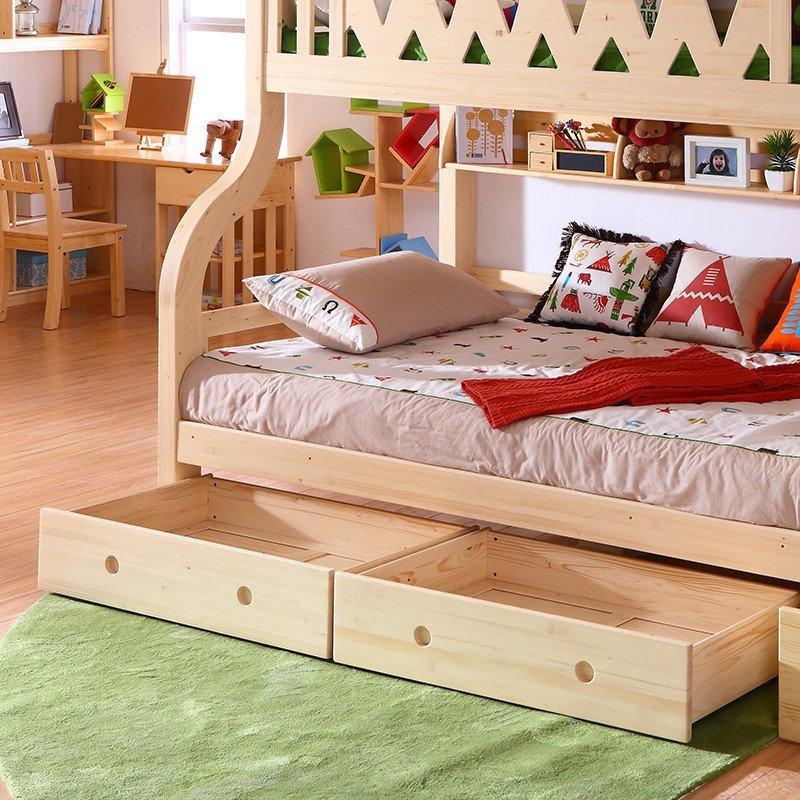 多喜爱儿童家具 芬兰松木高低床 男孩双层床实木高低床 子母床 床