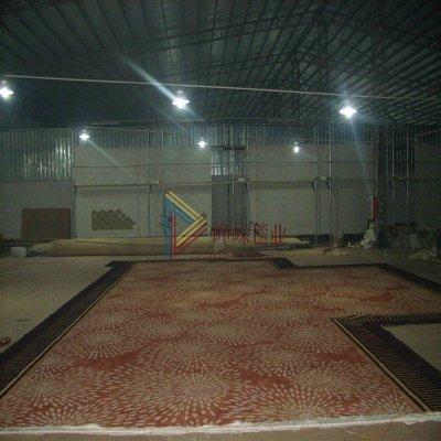 嵘毯业手工地毯花朵新西兰羊毛时尚办公室别墅汤逊湖武汉图片