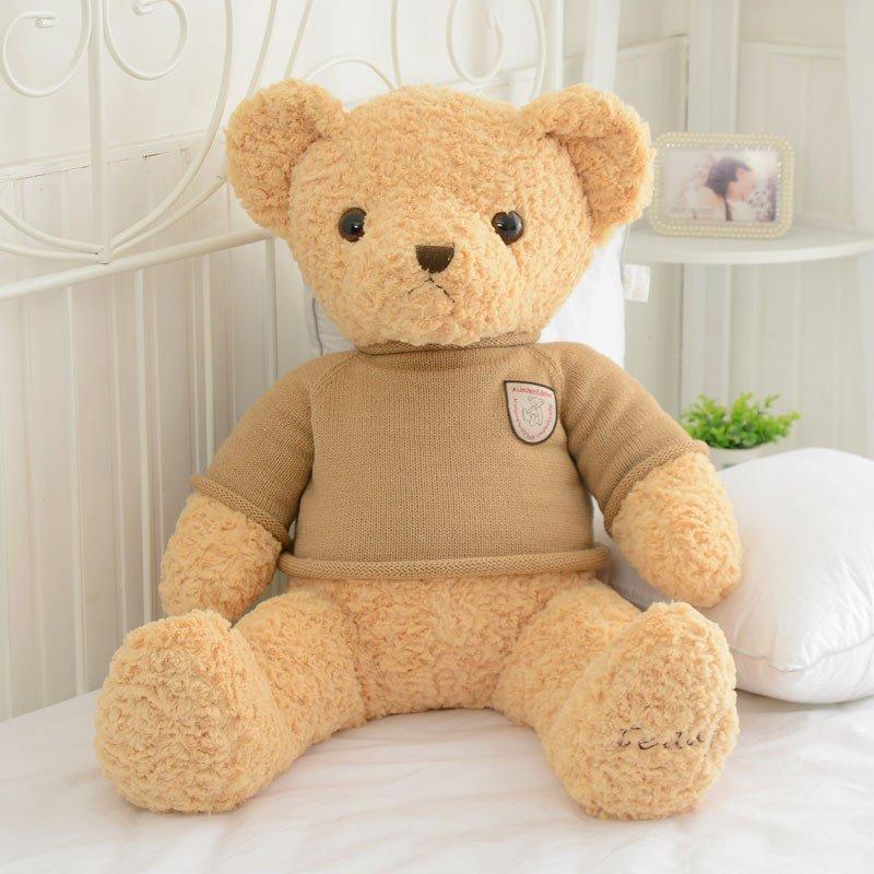 正版泰迪熊毛绒玩具熊超大号抱抱熊可爱布娃娃玩偶毛衣熊泰迪熊公仔