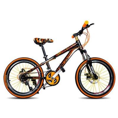 童悦儿童山地变速自行车20寸男小孩8-15岁小学生赛车少年双碟刹 21速