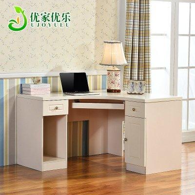 韓式田園臥室家具兒童轉角書桌書架柜組合家用寫字臺式拐角電腦桌