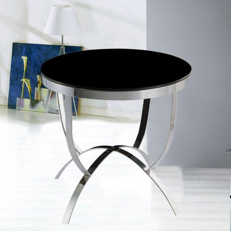 【京好】不锈钢茶几桌m系列 欧式小边几边桌圆桌子(10天左右发货) m01