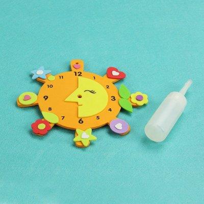 手工创意钟表 儿童益智diy玩具幼儿园手工制作eva材料