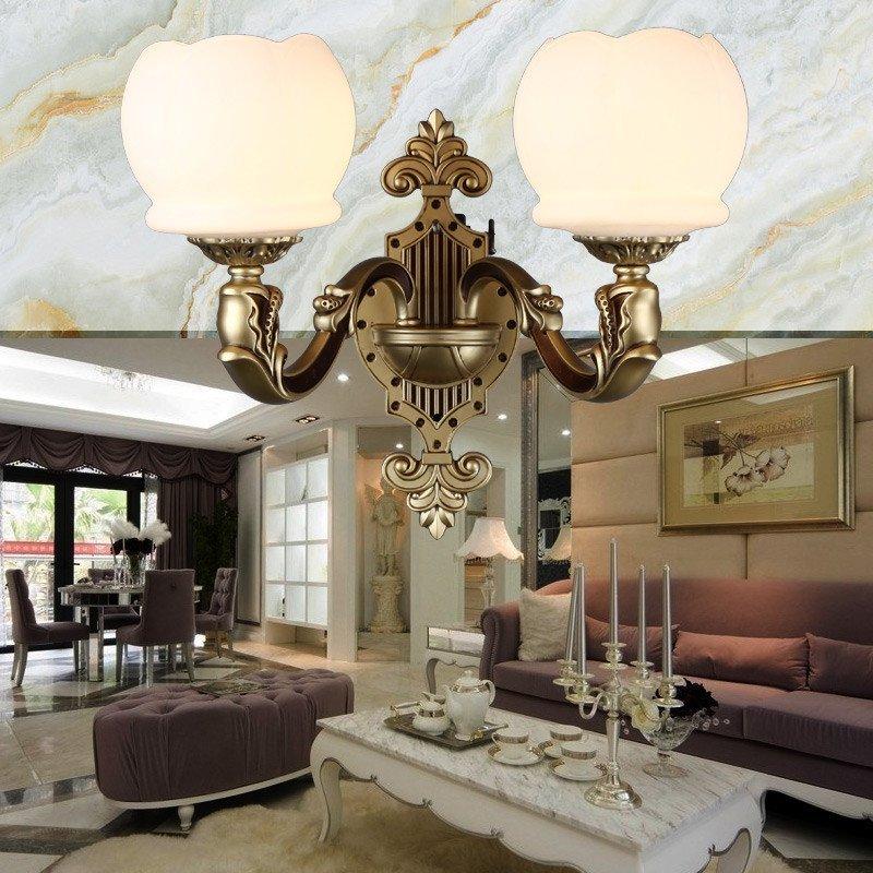 臻承 美式客厅大吊灯 欧式复古锌合金灯具 大气云石复式楼仿古灯饰 63