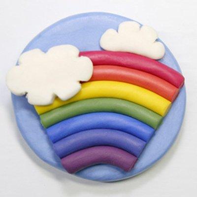 皂美乐橡皮泥包邮儿童无毒安全认证彩泥香皂宝宝手工泥 diy套装-彩虹