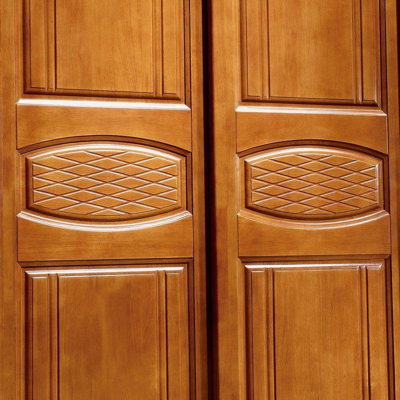 现代简约卧室家具中式实木衣柜