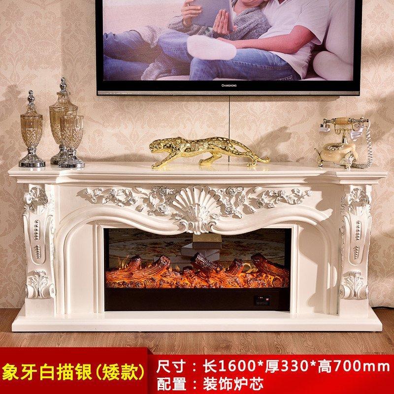 3米/1.6米欧式壁炉架 美式电视柜壁炉 装饰取暖壁炉架 1.