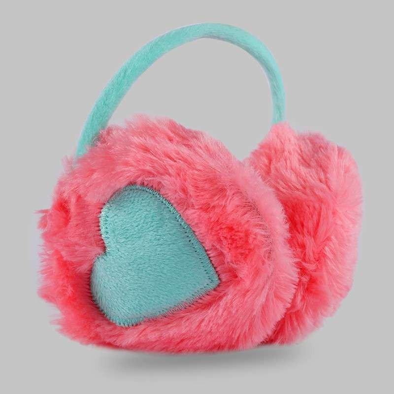 韩版时尚保暖耳套女冬可爱心形耳包毛绒耳罩