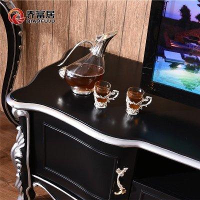 地柜矮柜储物柜新古典电视机柜实木烤漆欧式收纳柜