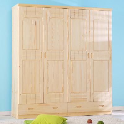 三门四门木质衣柜简易组装大柜子