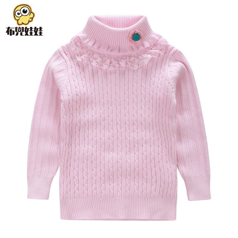 女童毛衣儿童高领针织毛线衫宝宝春