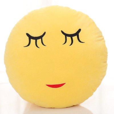 抱枕qq大表情微信表情动漫emoji圆形家居靠垫枕公仔