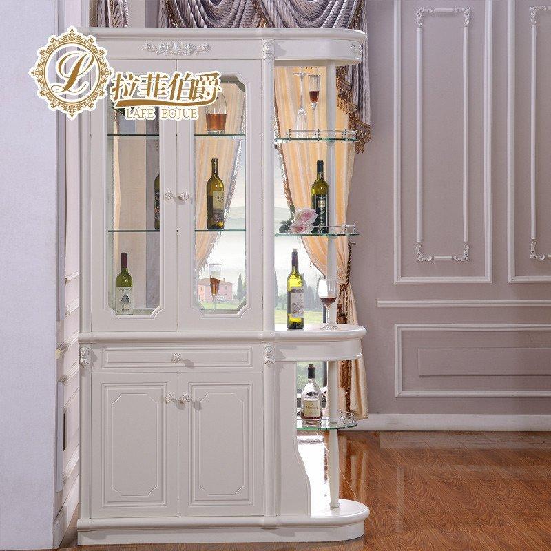 拉菲伯爵 门厅法式田园 间厅柜 双面隔断柜酒柜 欧式玄关柜 fx002