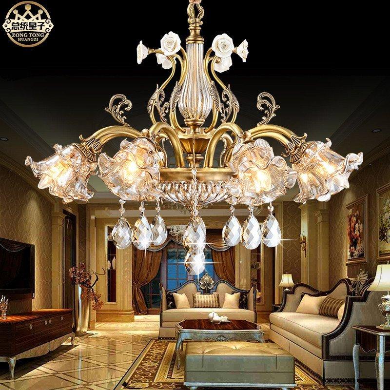 欧式水晶吊灯客厅别墅灯具