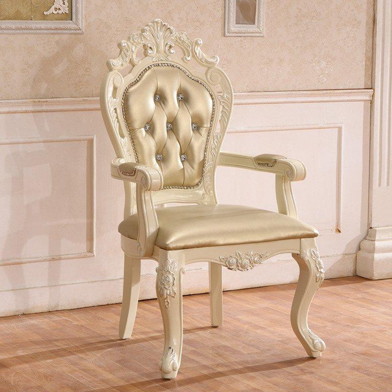 拉菲伯爵 欧式餐椅 法式皮椅餐桌椅 田园扶手椅橡木椅 fy005