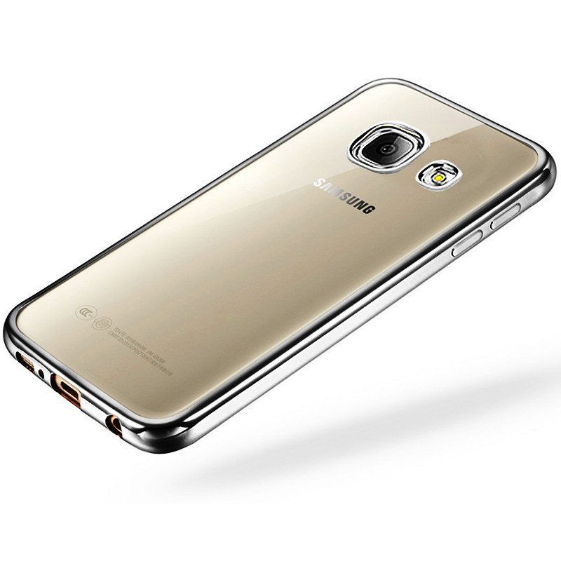 彩果 三星a7100电镀透明手机壳/手机套/保护后盖 适用于三星a7100高清