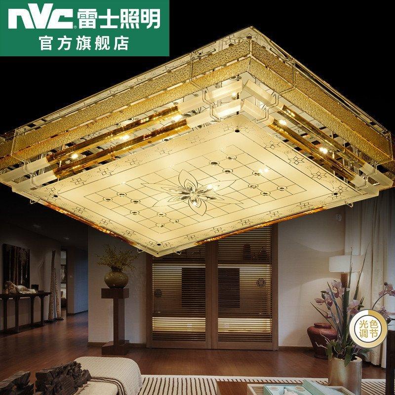 雷士照明 水中花星光 led欧式水晶灯客厅灯卧室灯长方形轻奢现代大气