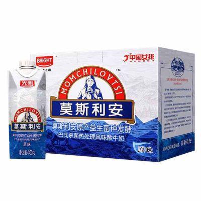 【苏宁易购超市】光明 莫斯利安 原味酸牛奶350克*6