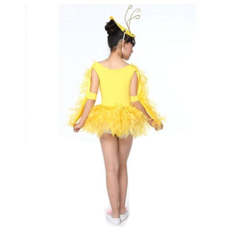 儿童动物舞台 演出服装 小鸡也疯狂 幼儿舞蹈节目表演女童跳舞服 110c