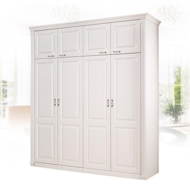 欧睿宇邦衣柜 全屋定制 欧式衣柜 衣帽间 定制衣柜 对开门衣柜 白色