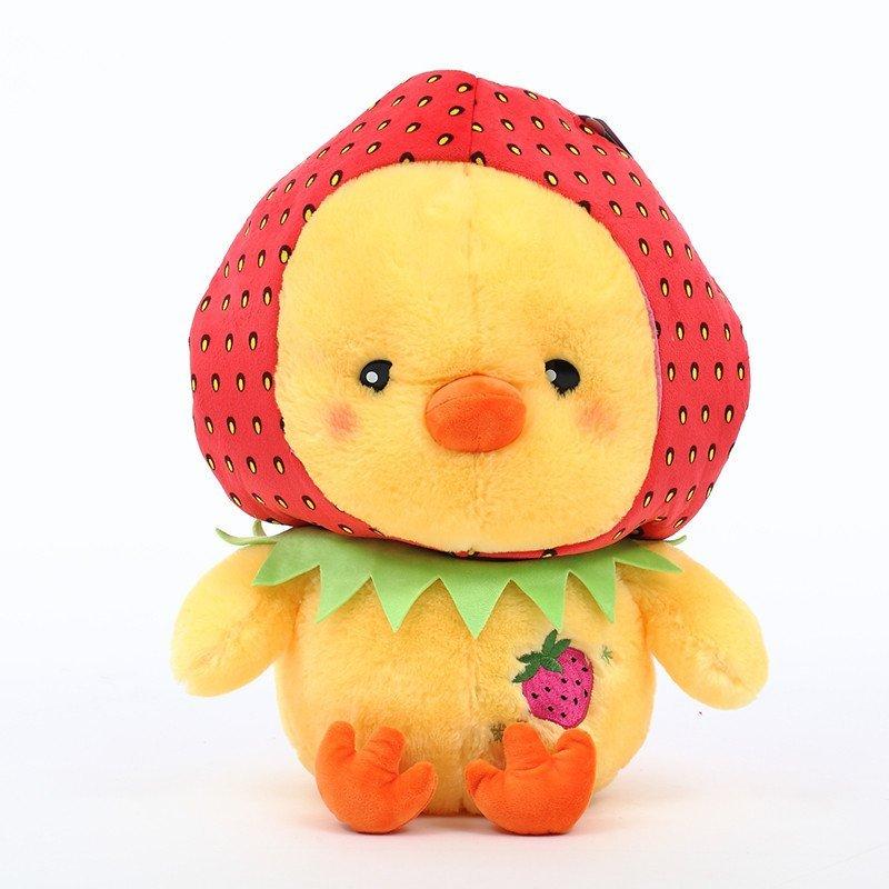 名人玩偶 正版可爱小黄鸡小黄鸭公仔毛绒玩具情侣布娃娃玩偶生日礼物
