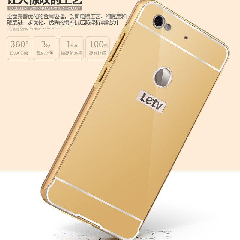 乐视1s手机壳 乐1s手机保护套 乐视超级手机1s金属边框外壳 镜面后盖