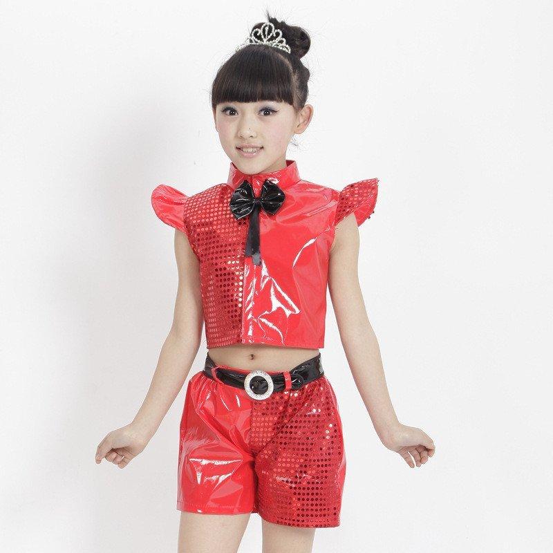 芭奴琳 新款儿童爵士舞蹈服幼儿爵士舞演出服装男女现代舞服女孩超靓