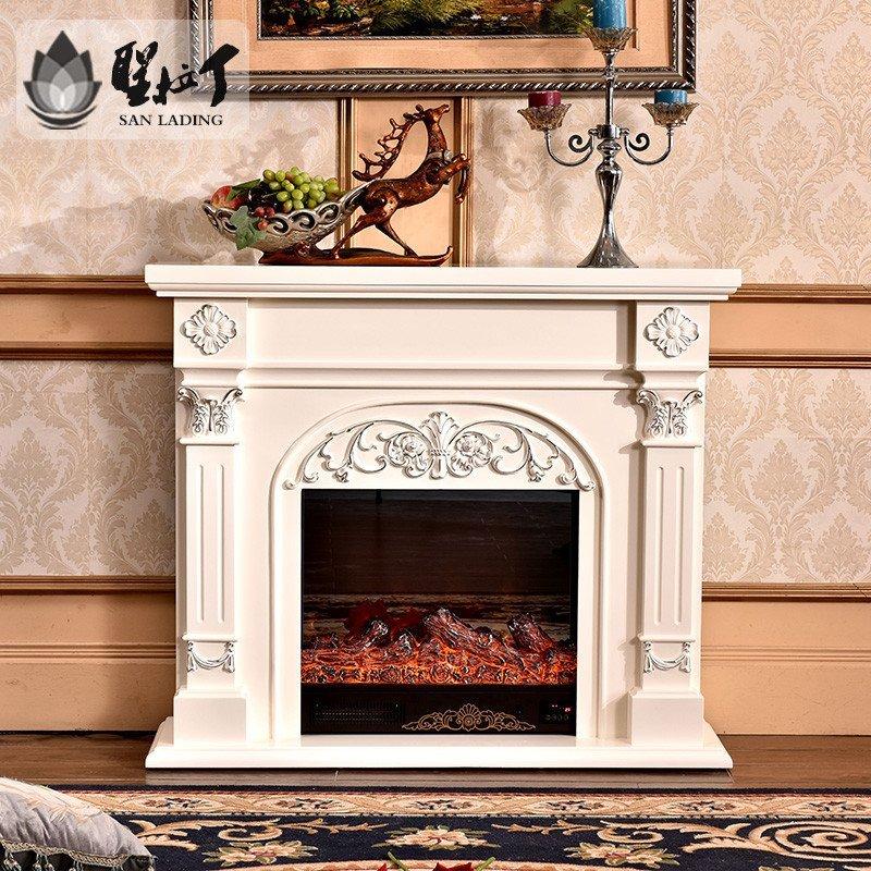 5米欧式装饰仿真火炉芯美式电壁炉电视柜遥控取暖器壁挂炉壁炉架 描银图片