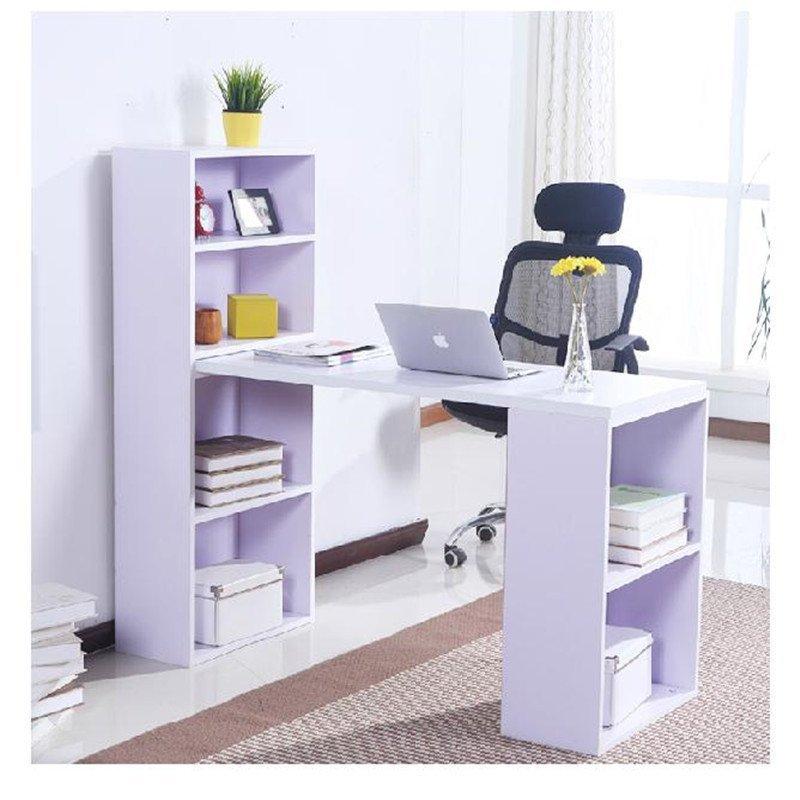 苏鼎简约台式电脑桌 办公桌 写字桌 儿童学习桌 书桌 带书柜电脑桌 写