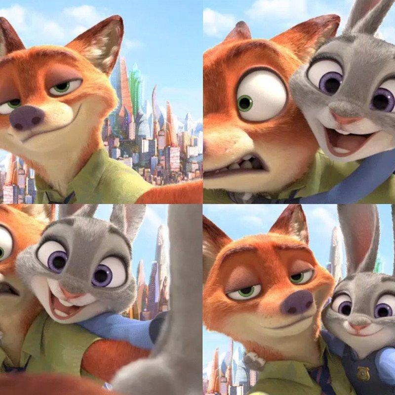 悦达 正版迪士尼疯狂动物城兔子朱迪狐狸尼克毛绒玩具公仔玩偶女生
