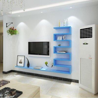 客厅背景墙装饰架造型隔板墙上置物架电视柜架
