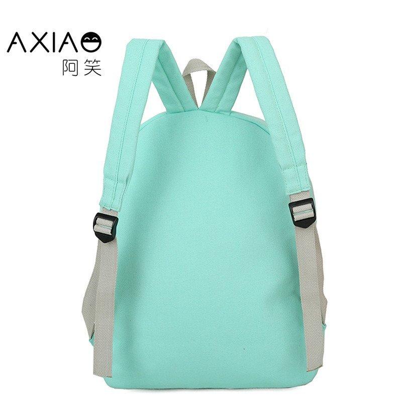 套装初中小学生大容量双肩包女韩版帆布学院风女孩可爱休闲背包四件套