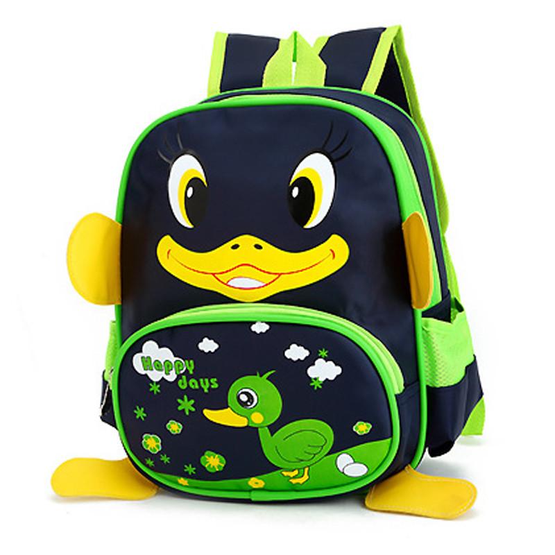 自然鱼幼儿园书包3-6岁儿童男女双肩背包可爱小鸭子大班中班小班 1258