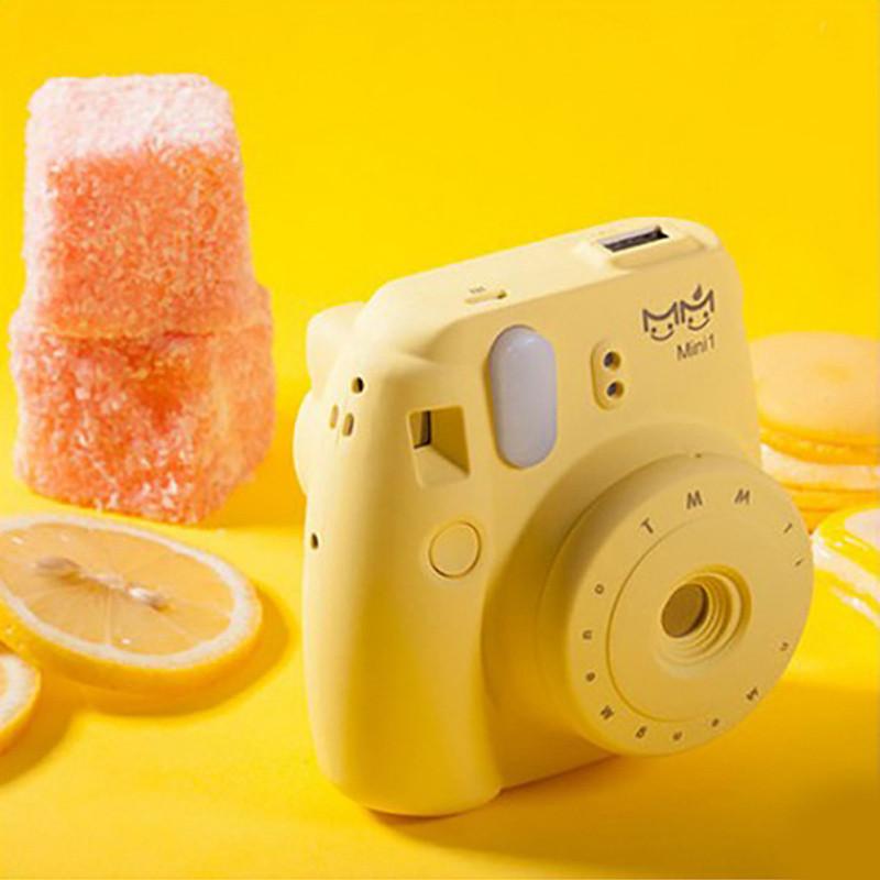 js几素创意照相机充电宝 可爱卡通移动电源10000毫安手机通用 蒂芙尼