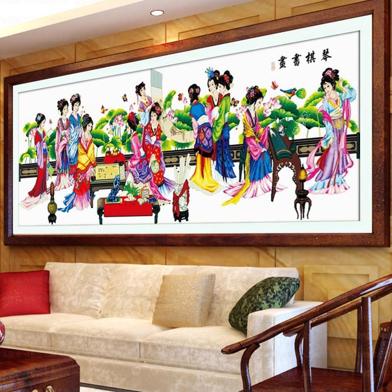 十字绣琴棋书画 3米客厅大幅红楼梦12十二金叉钻石画新款 图案大全
