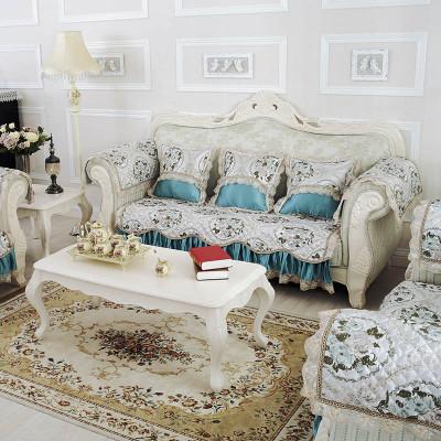孔雀蓝颜色的欧式沙发