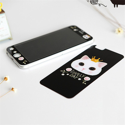 可爱宠物狗狗猫咪全屏前后膜iphone6