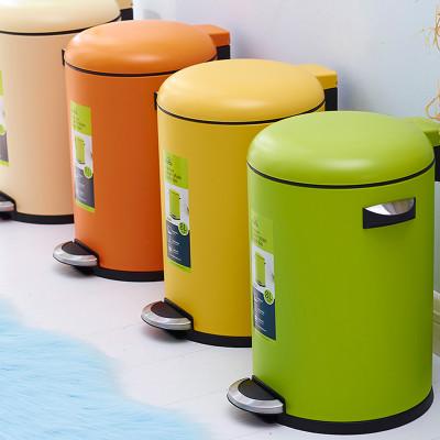 静音垃圾桶 翻盖垃圾筒 脚踏垃圾桶 家用彩钢清洁桶 客厅卧室卫生桶