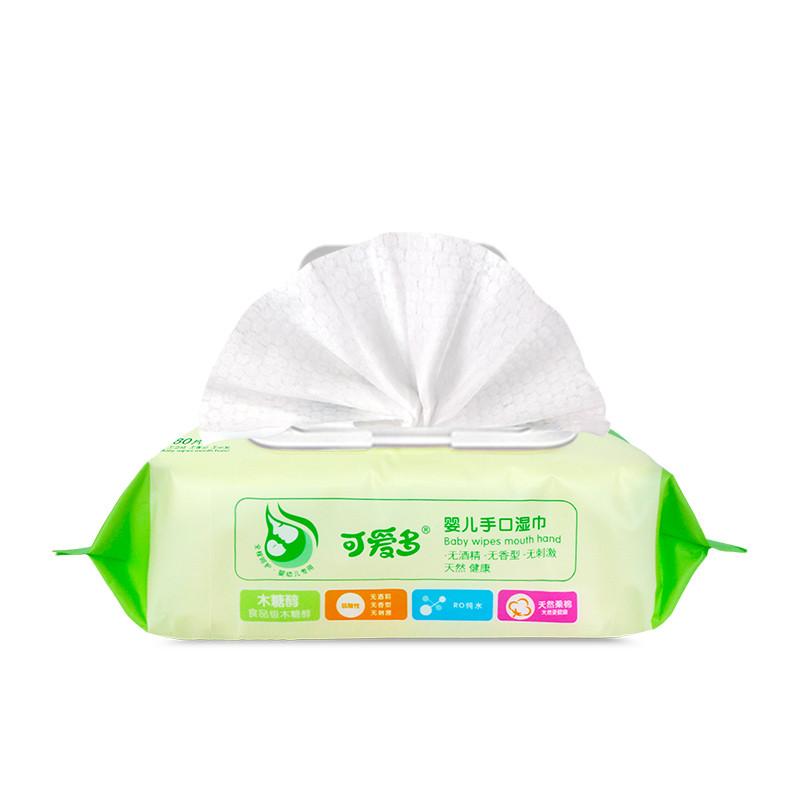 可爱多 婴儿手口柔湿巾80片(盖)*6包高清实拍图