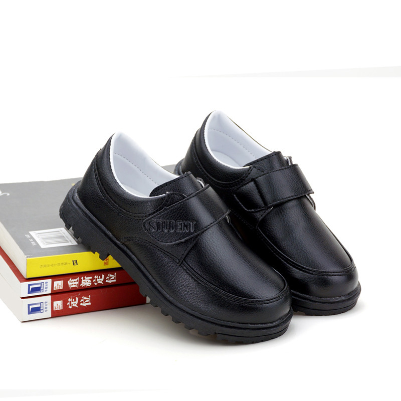 2017春秋新款防滑男童皮鞋 男童黑皮鞋儿童黑色皮鞋休闲童鞋 3668黑色