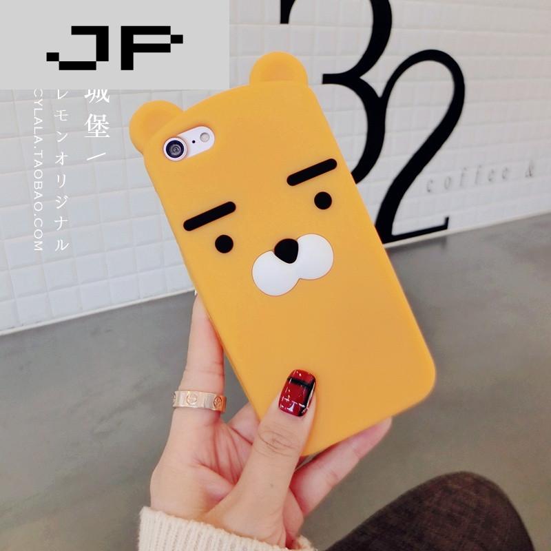 jp潮流品牌iphone6plus手机壳全包苹果7软壳硅胶ip6s小熊指环新情侣5.