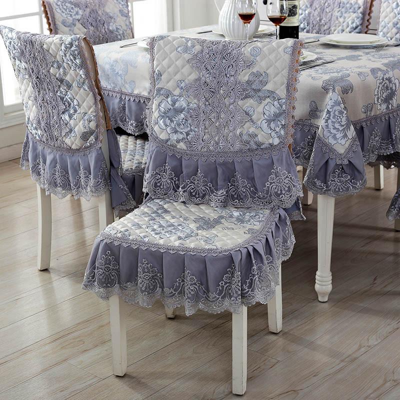 欧式蕾丝餐桌布餐椅垫套装田园桌椅套茶几布椅套欧式桌椅套椅子套