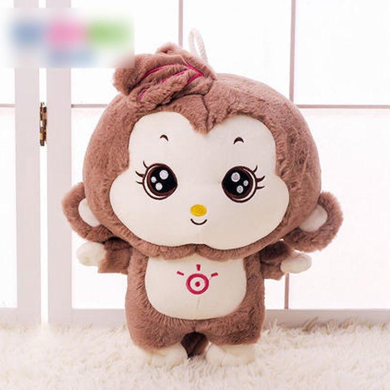 【萌穗系列】可爱卡通小孩子毛绒玩具阳光猴子公仔小.