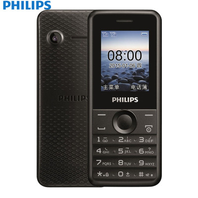 飞利浦 E103 陨石黑 移动联通2G老人手机双卡双待