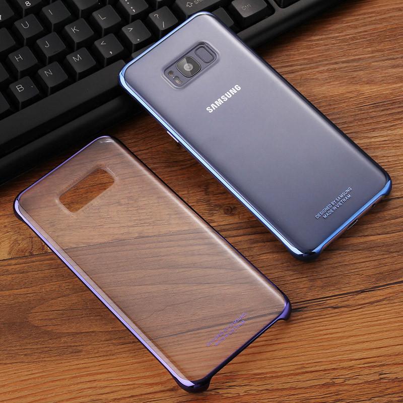 621款原装三星s8手机壳s8 保护套s8plus金属边框防摔超薄曲屏透明硬壳