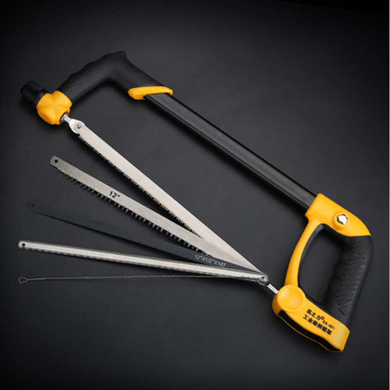 家居家用多功能钢锯架 手工锯 锯弓架锯条架木工锯手锯家用迷你小拉花